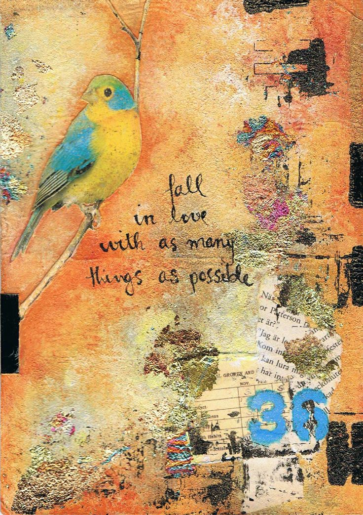 'Fall in Love' - Art Journal mixed media by http://inkyfingersstore.blogspot.com.au/