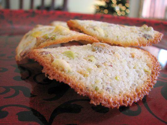 Pistachio Tuiles Cookie | Recipe