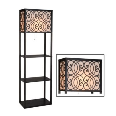 Grady wide shelf floor lamp for Kirklands floor lamp with shelves