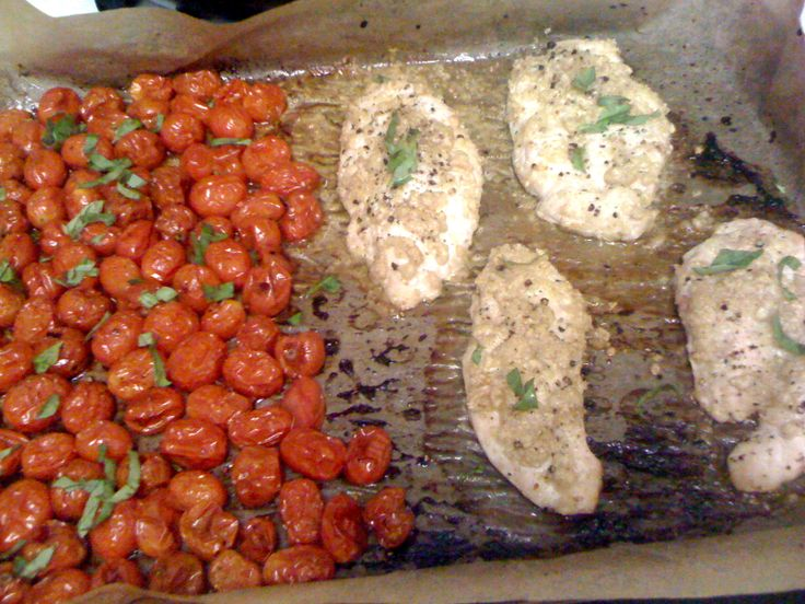 Baked Mediterranean Chicken and Tomatoes - South Beach Phase 1