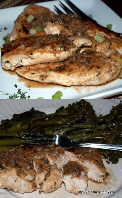 ... recipe-chicken-broccoli-lemon-thyme-sauce #recipes #chicken #broccoli
