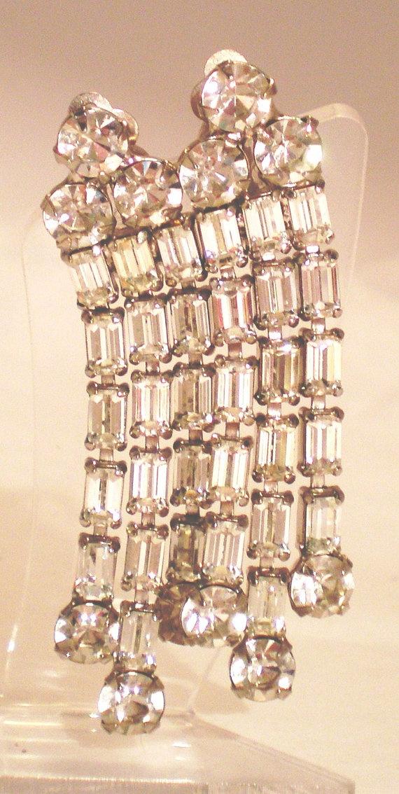 Vintage B David Chandelier Earrings Long Dangle 32 by BagsnBling, $28.00