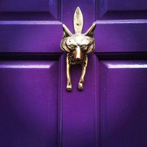 silver #fox door knocker