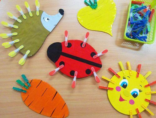 Картинки для игры с прищепками для малышей