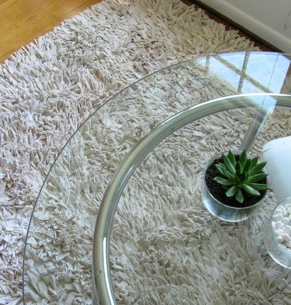 recycled t-shirt rug for the living room | Crochet | Pinterest