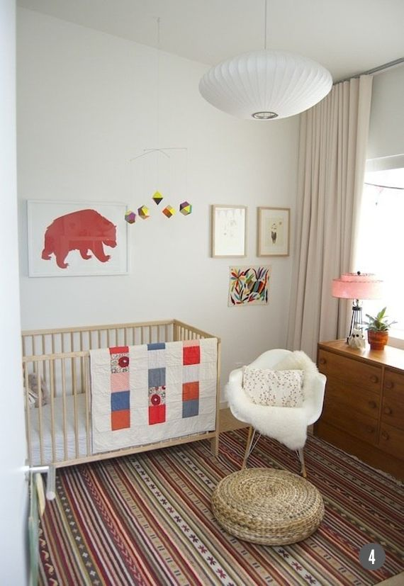 Simple bohemian nursery ace 39 s nursery pinterest - Simple baby room ...