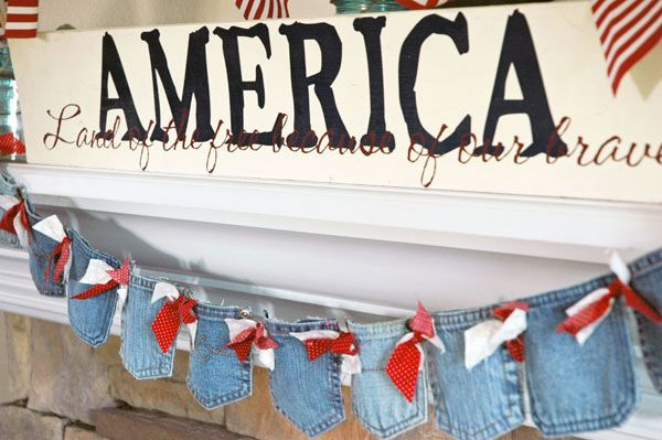 Festive Denim Pocket Banner...