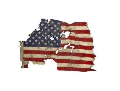 flag on ground