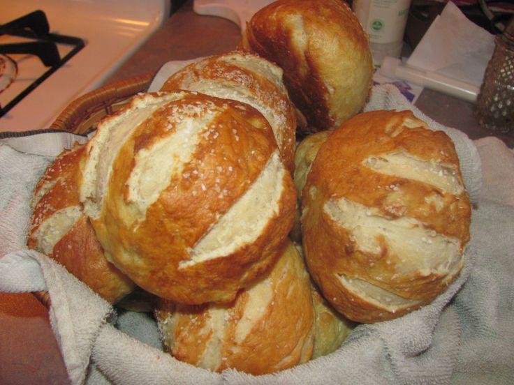 Pretzel rolls. | Recipes | Pinterest