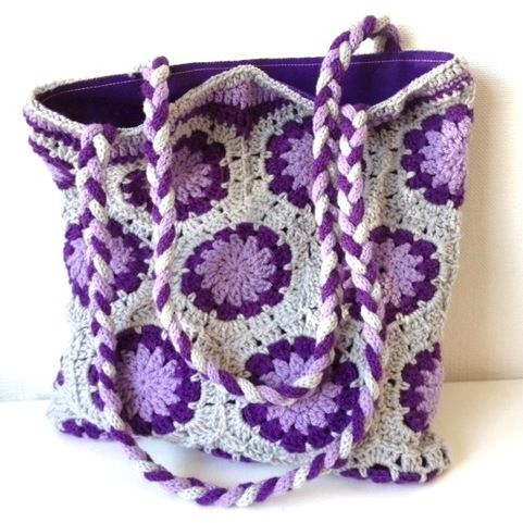 Crochet Hexagon Bag : Crochet Hexagon bag. pretty Crochet Things I want to make Pintere ...