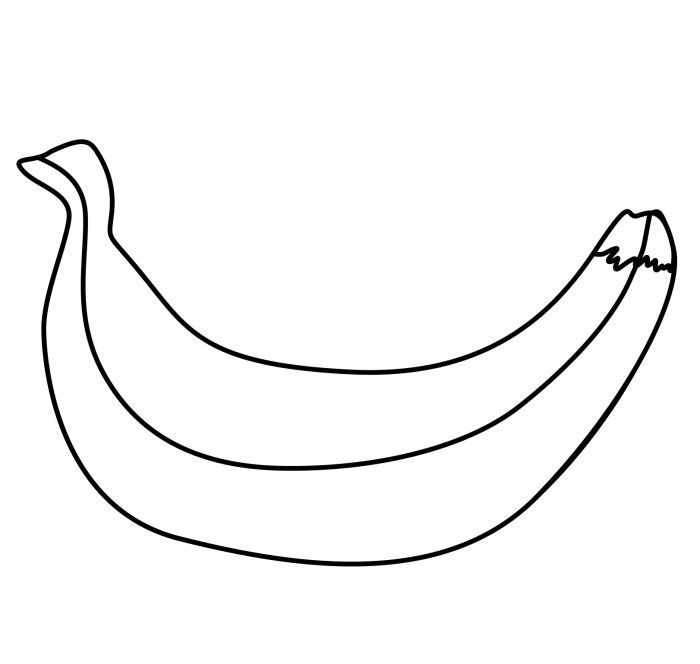 Banana Peel Coloring Pages