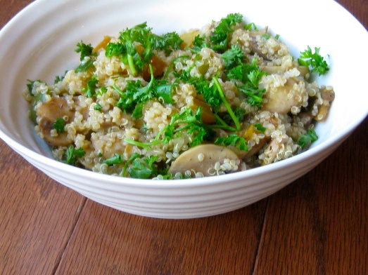 Mushroom and Pepper Quinoa Pilaf | Jamie's Clean Food Kitchen