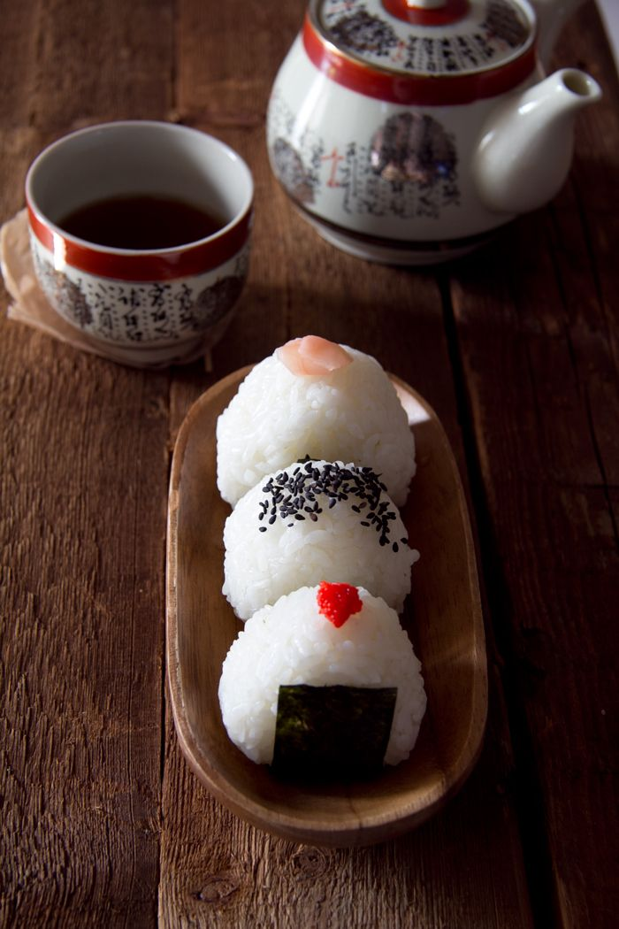 Onigiri - Japanese Rice Ball My Mom made the BEST!! Sometimes she used a plastic form and made triangle ones! These onigiri were a staple of any picnic!