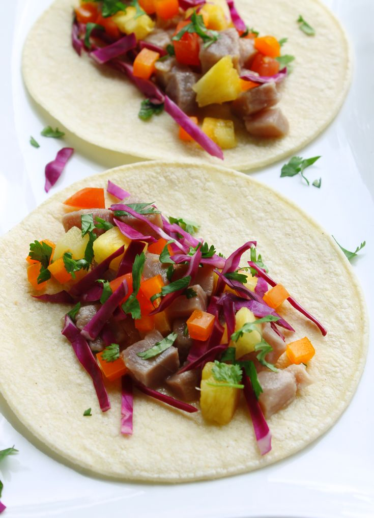 Tuna and Pineapple Ceviche Tacos | A little bit of everything | Pinte ...