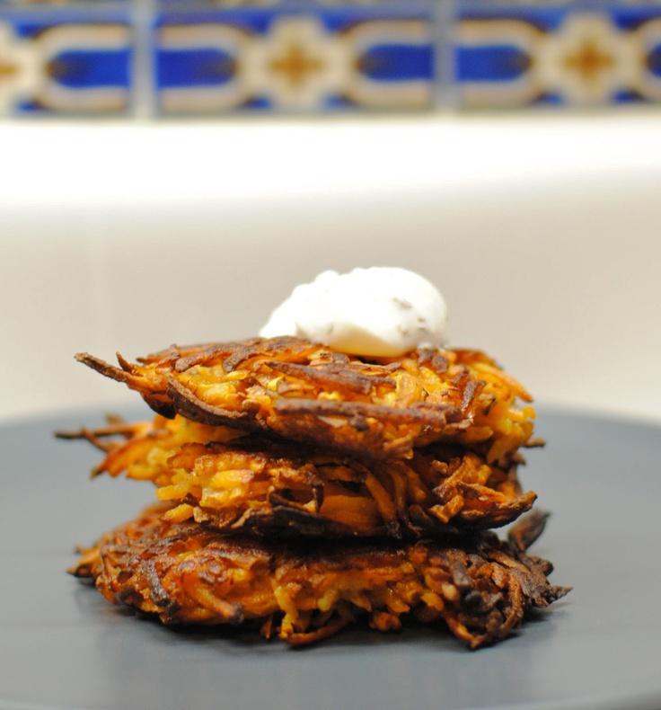 Baked] Sweet Potato Latkes | Yummy!! | Pinterest