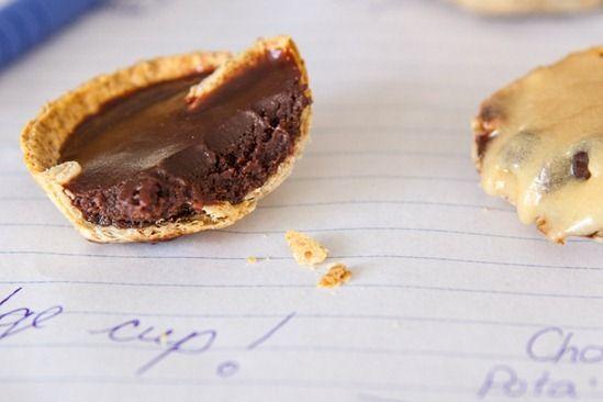 one bite cookie 'n fudge cups. healthy!