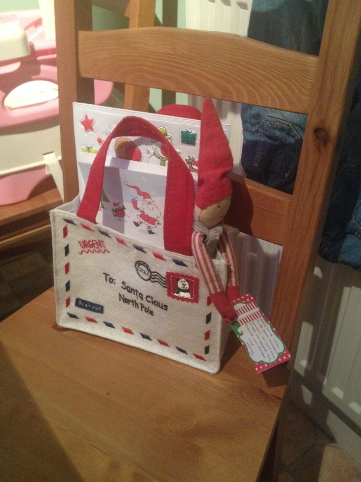 Elf on the shelf brings a letter to Santa pack - pen, paper, envelope ...