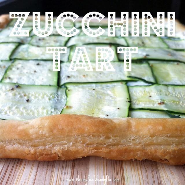 Zucchini Tart with Herbed Lemon Ricotta (Recipe at : http://www ...