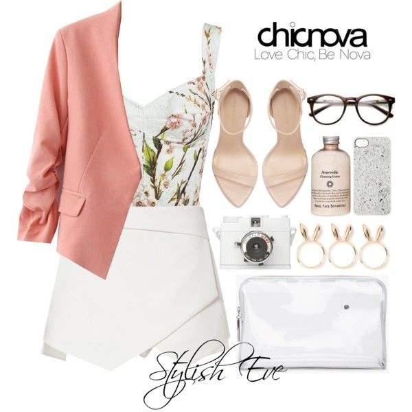 """Alaa."" by stylisheve on Polyvore #polyvore How to wear a mini skirt. #stylisheve #style_inspiration #fashion #stylish #love #TagsForLikes #chicnova #mini_skirt #beautiful #instagood #instafashion #jewelry #rings #blazer #crop_top #outwear #clutch #makeup #beautiful #outfit #yourguide #style #zara #high_heel #shoes #streetfashion #outfitideasforwomen."