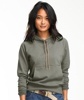 Medium-LL-Bean-Sweater-Hooded-Pullover-3-4-Sleeves-Womans-Hoodie-Blue