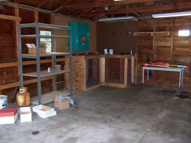 garage dog kennel jamie pinterest
