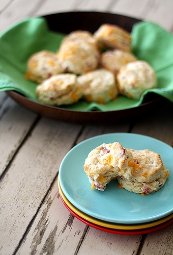 Flaky cheddar and ham biscuits | Dirty 30 | Pinterest