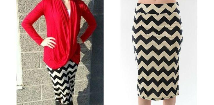 11.99 Gorgeous Chevron Printed Pencil Skirt! Quick Ship