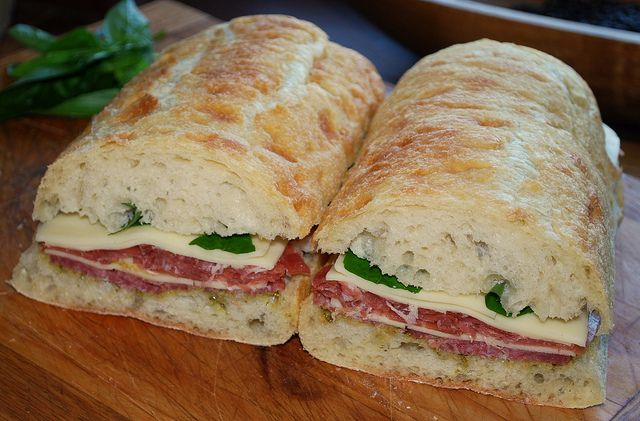 Pressed Mozzarella Sandwiches Recipe — Dishmaps