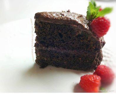 Chocolate Raspberry Layer Cake   gluten free recipes   Pinterest