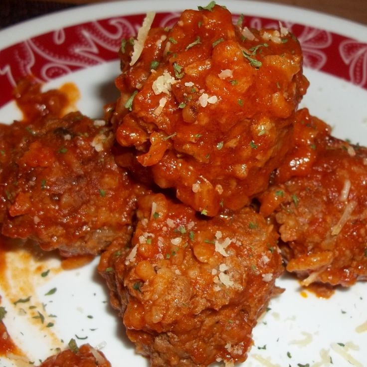 Porcupine Meatballs In Tomato Sauce | Cooking with Red Meat | Pintere ...