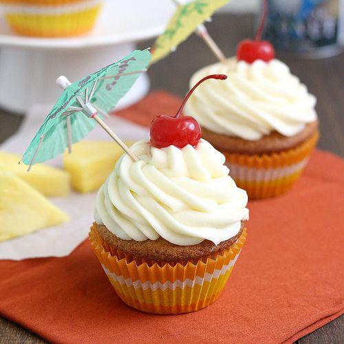 Tracey's Culinary Adventures: Pina Colada Cupcakes -- Coconut Cream ...