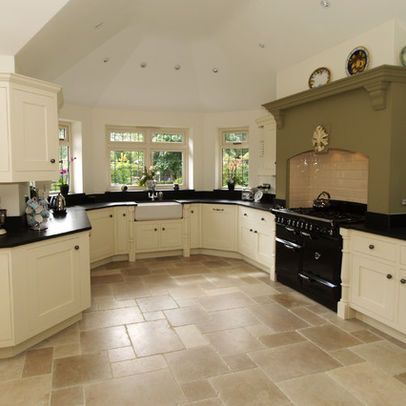Traditional home kitchen floor tile kitchen pinterest for Traditional kitchen flooring