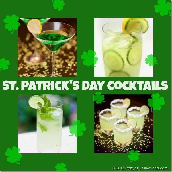 St Patrick 39 S Day Cocktail Recipes Holidays St Patricks