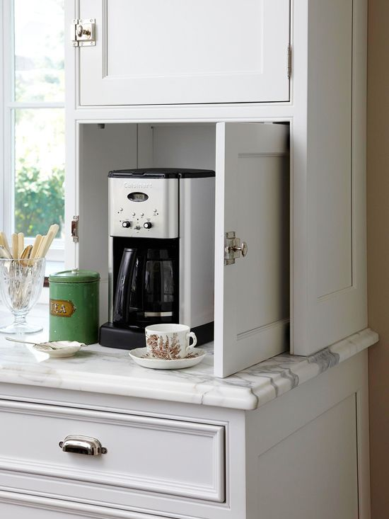 Declutter with an appliance garage for the home pinterest - Kitchen appliance storage cabinet ...