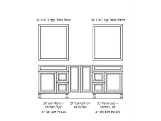 84 inch wide vanity configuration bye bye ugly bathroom for Bathroom configurations