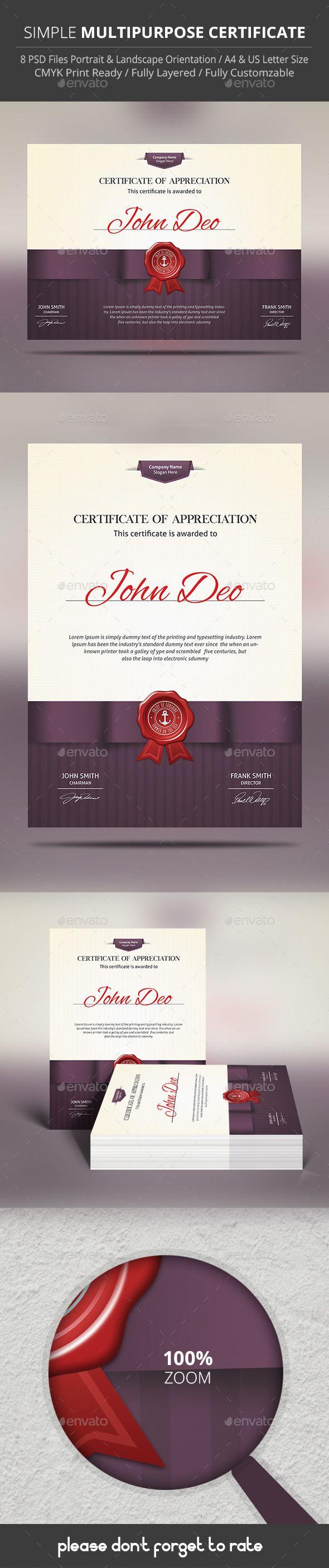 Best 25 Certificate templates ideas on Pinterest Award - mandegar.info