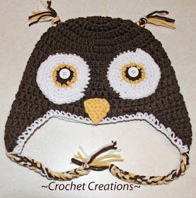 owl crochet hat pattern on Etsy, a global handmade and