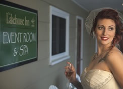 Wedding hair and makeup done by the Spa at The Lakehouse Inn.