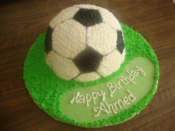 Cake Design Dragon Ball : Half soccer ball Cake (B113) Cake decorating ideas ...