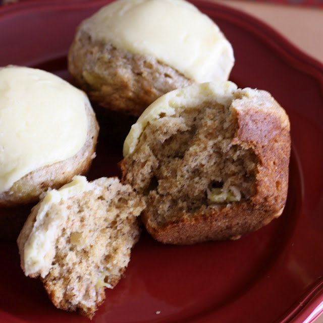 banana cream cheese muffins. | sweets | Pinterest