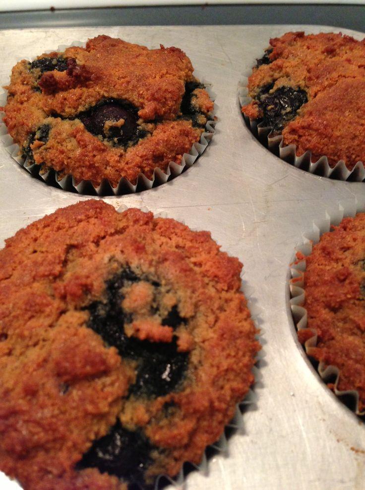 Almond flour blueberry muffin | Paleo | Pinterest