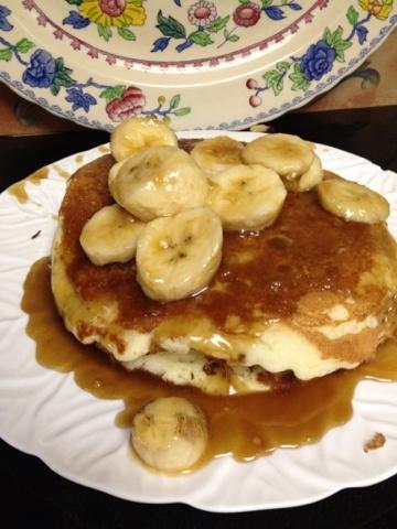While Wearing Pearls.... Bananas Foster Pancakes