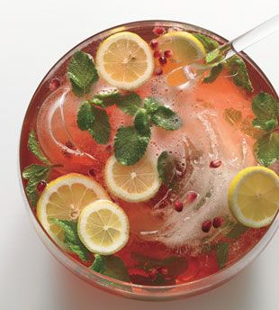 pomegranate-champagne punch. this looks so refreshing.