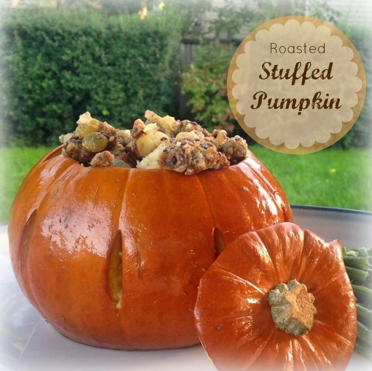 Roasted Stuffed Pumpkin | What's for Dinner, Mama? #Thanksgiving # ...
