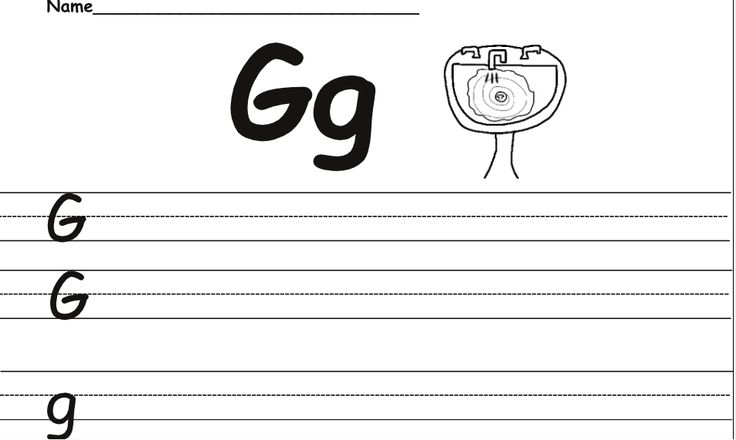 Example of the handwriting worksheet | 4A ideas | Pinterest