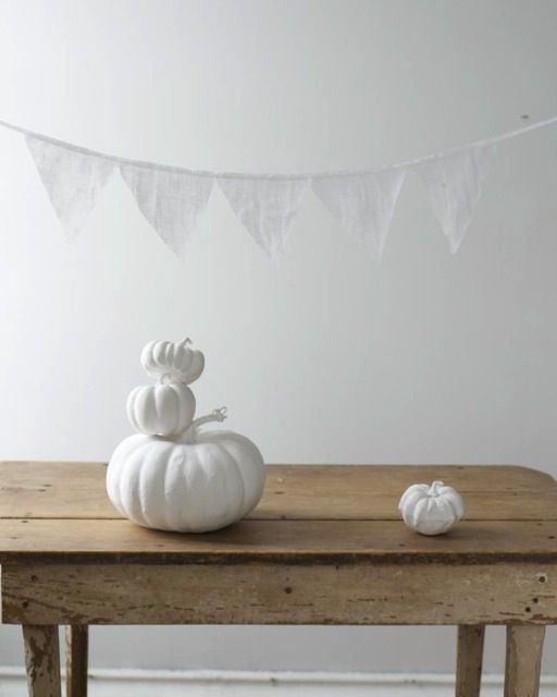 Sweet Paul's White Pumpkins #halloween #chic
