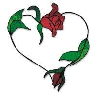 my valentine rose glass tubing
