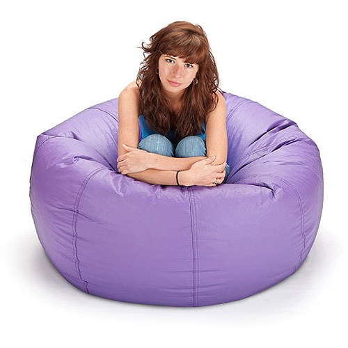 Large Vinyl Lounger Bean Bag Chair Purple Pinterest