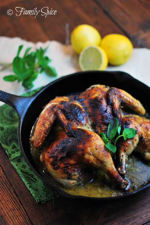What's for Dinner Tonight? Spatchcocked Chicken with Mint & Garlic