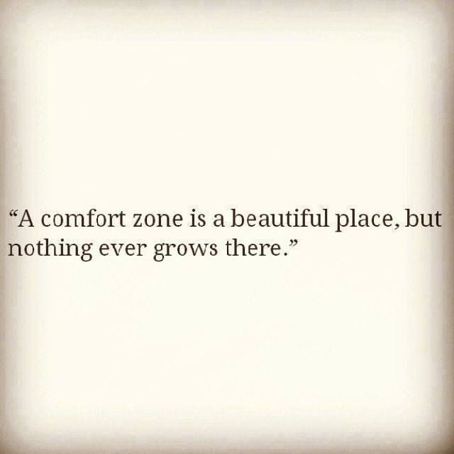 A comfort zone is a beautiful place, but nothing ever grows there...